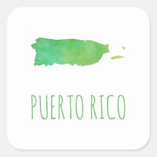 Puerto Rico Square Sticker