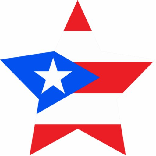 Puerto+Rico Star Photo Cut Outs