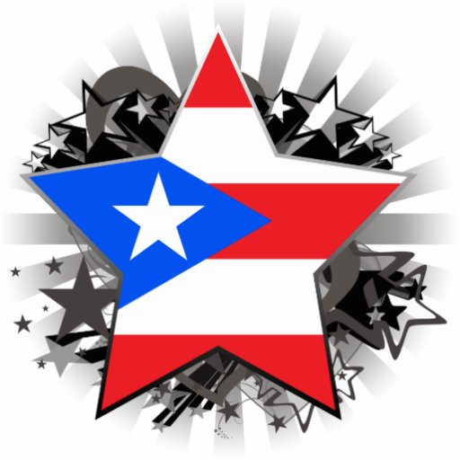 Puerto Rico Star Cut Out