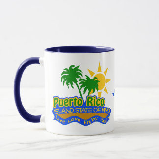 Puerto Rico State of Mind custom name mugs