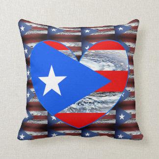 Puerto Rico Strong Flag Hurricane  Pillow