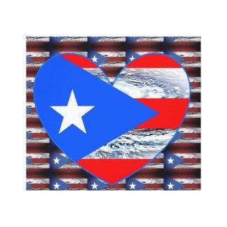 Puerto Rico Strong Flag Hurricane Wall Art