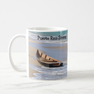 Puerto Rico Strong mug with boat on the beach