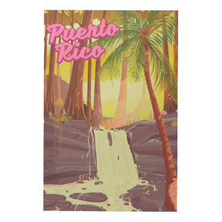 Puerto Rico Tropical Palm travel poster