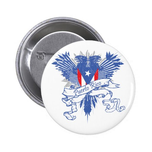 Puerto Rico Winged Button