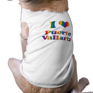PUERTO VALLARTA GAY PRIDE SLEEVELESS DOG SHIRT