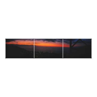 Puerto Vallarta, Mexico sunset art Canvas Print