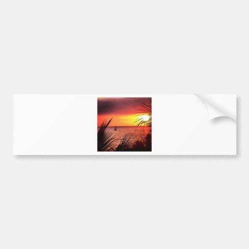 Puerto Vallarta Sunset Bumper Stickers
