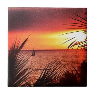 Puerto Vallarta Sunset Ceramic Tile