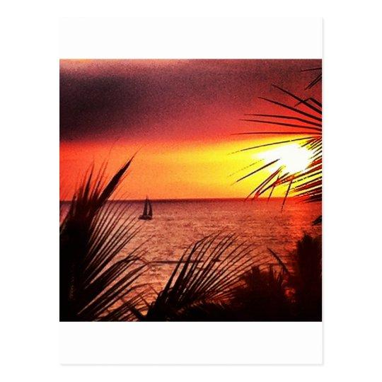 Puerto Vallarta Sunset Postcard