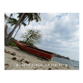 Puerto Viejo Boat on Beach Costa Rica Postcard