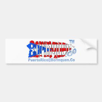 PuertoRico@Borinquen.Co Bumper Sticker