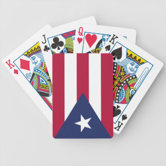 Puertorico flag bicycle playing cards