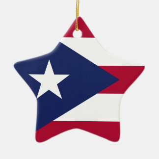 Puertorico flag ceramic ornament