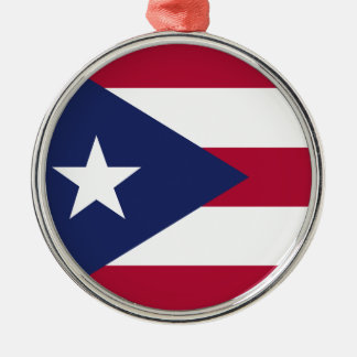 Puertorico flag metal ornament