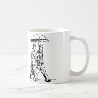 Puff D. With Umbrella Postcard Basic White Mug