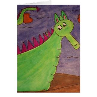 Puff the Magic Dragon - watercolors Card