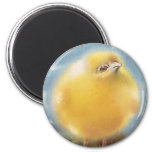 Puffball Chick Vintage Easter 6 Cm Round Magnet