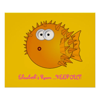 Puffer Fish - Bedroom Door Poster