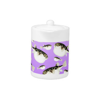 Puffer Fish Purple Pattern