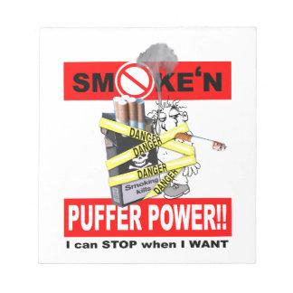PUFFER POWER_1 NOTEPAD