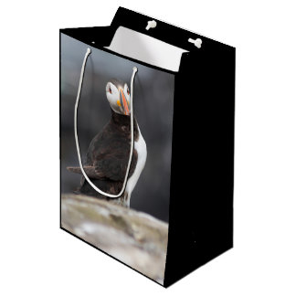 Puffin bird medium gift bag