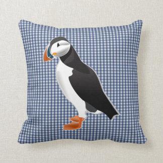 puffin bird pillow