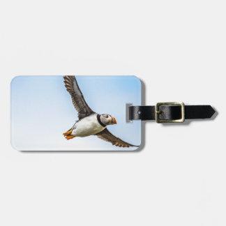 Puffin Bird Sea Flight Wildlife Fly Feather Luggage Tag