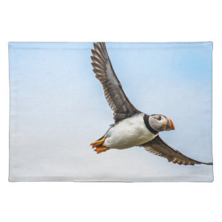 Puffin Bird Sea Flight Wildlife Fly Feather Placemat