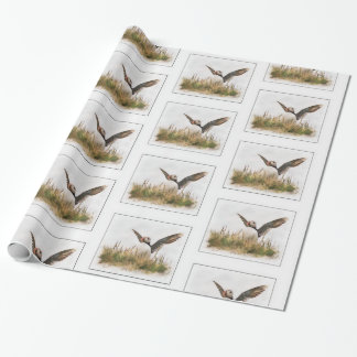 Puffin bird wrapping paper