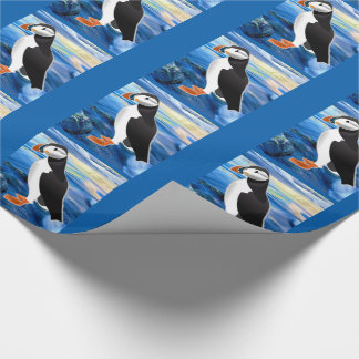 Puffin Days Wrapping Paper