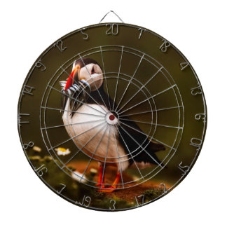 Puffin Fish Animal Bird Wildlife Atlantic Island Dartboard