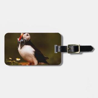 Puffin Fish Animal Bird Wildlife Atlantic Island Luggage Tag