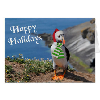 Puffin Holiday Greeting Card