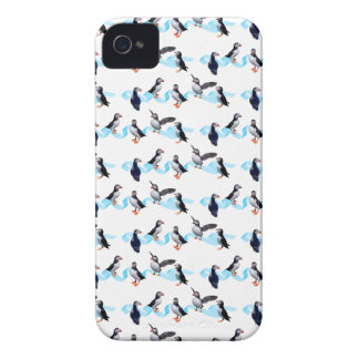 Puffin Party iPhone 4 Case (choose colour)
