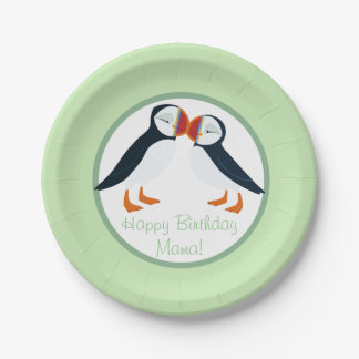 Puffin Rock Party Plate  - Mama & Papa 7 Inch Paper Plate