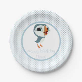 Puffin Rock Party Plate - Oona