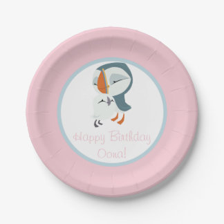 Puffin Rock Party Plate - Oona & Baba 7 Inch Paper Plate