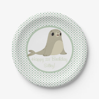Puffin Rock Party Plate - Silky