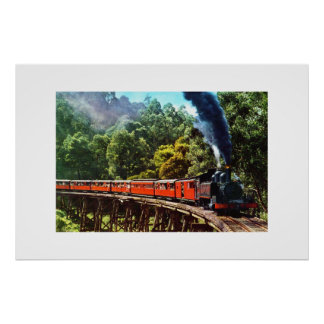 PUFFING BILLY IN AUSTRALIA POSTER