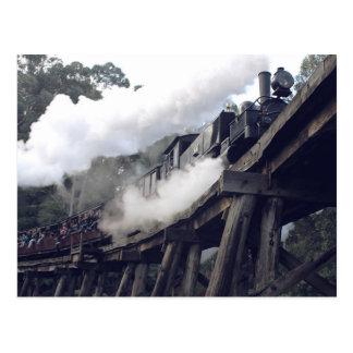 Puffing Billy Steam Train Postcard