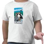 Puffins & Cruise Ship - Seward, Alaska Shirt
