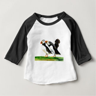 Puffins Seabirds in Watercolour Paints Artwork Baby T-Shirt