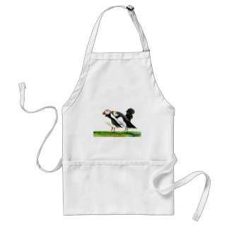 Puffins Seabirds in Watercolour Paints Artwork Standard Apron