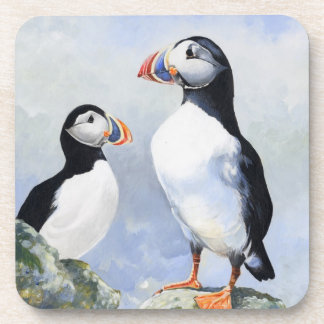 Puffins Set of 6 Coasters