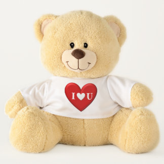 "Puffy 'I ""Heart"" U' Teddy Bear"