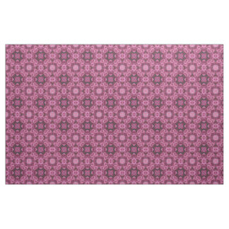 Puffy Pink Flowers Kaleidoscope Fabric