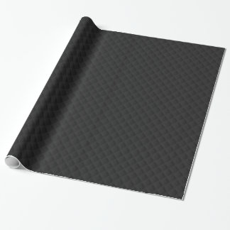 Puffy Stitched Black Quilted Leather Wrapping Paper