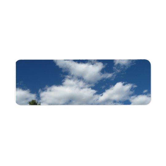 Puffy White Clouds Return address labels
