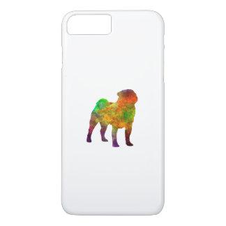 Pug 01 in watercolor iPhone 8 plus/7 plus case